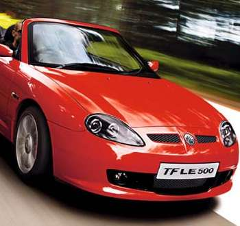 Mgtf le 500 mgf 135 new mg tf models from mg nac model for Auto motor club comparisons